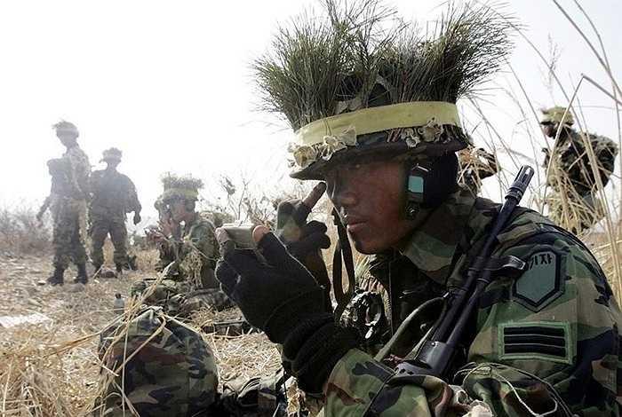 Binh lính Hàn Quốc ở Yeoju