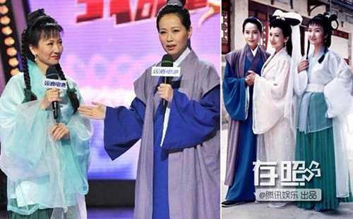 Nàng Hứa Tiên và Tiểu Thiến hội ngộ sau hơn 20 năm (trái).