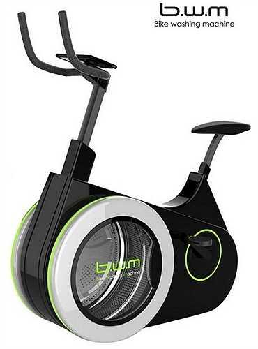 5. Máy giặt và xe đạp thể dục '2 trong 1': Bike Washing Machine là sự kết hợp của chiếc xe đạp tập thể dục với máy giặt, giúp bạn vừa nâng cao sức khỏe, vừa giặt sạch quần áo của mình. Sản phẩm do  Li Huan thiết kế.