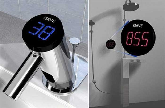 7. iSAVE Faucet: Với mục đích nâng cao ý thức tiết kiệm nước của người dùng, chiếc vòi nước và vòi sen do Reamon Yu lên ý tưởng có màn hình LED hiển thị lượng nước đã được tiêu thụ như một lời nhắc nhở trực quan nhất.