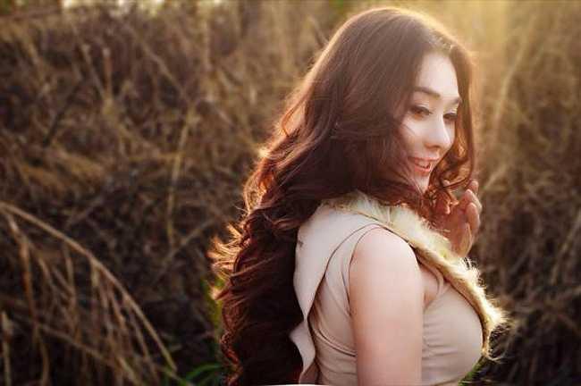 Ở góc độ nào, Lâm Chi Khanh trông đều vô cùng xinh đẹp.
