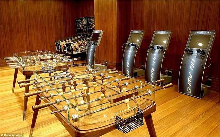 Phòng chơi game, giải trí cho các hành khách
