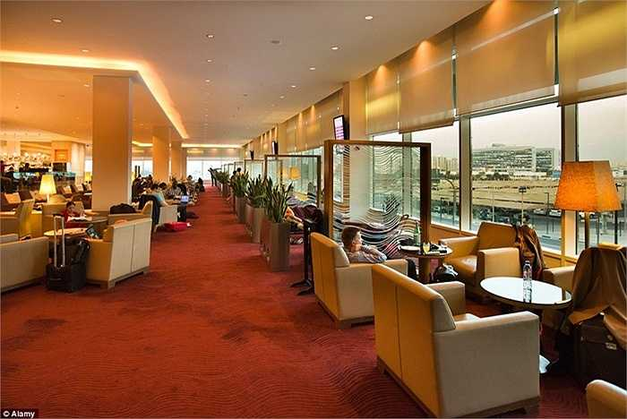 Sân bay có 138 quầy check-in, 2 khách sạn, bể bơi, bảo tàng và khu mua sắm.