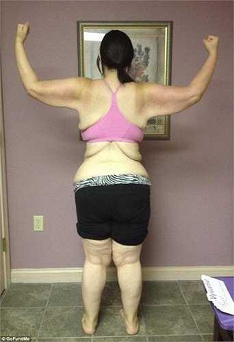 Sau nhiều tuần liên tục tập luyện, Kaitlyn đã giảm được 94kg.