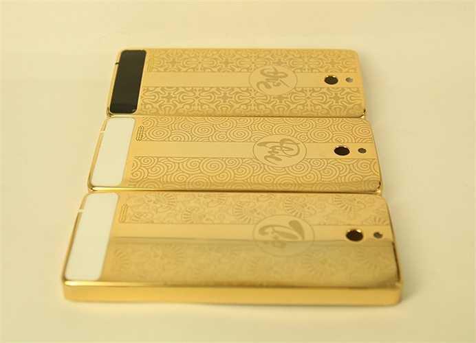 Những chiếc Nokia 515 sẽ trông sang trọng và bắt mắt hơn với lớp vỏ được mạ vàng lấp lánh. (Khánh Huy)
