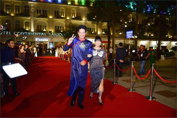 Nam diễn viên - MC Bình Minh và vợ Anh Thơ.