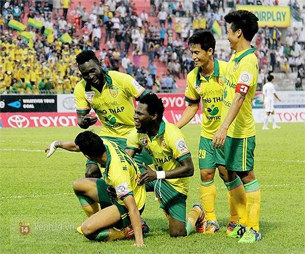 Họ đánh bại QNK Quảng Nam với 3 bàn không gỡ. (Ảnh: Tri thức trẻ)
