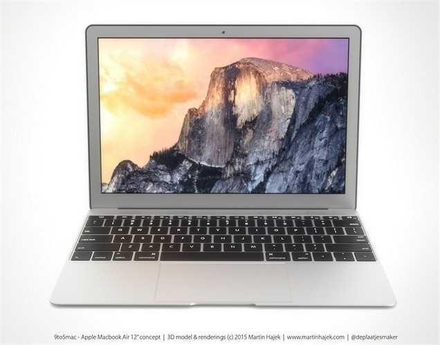 MacBook Air được kì vọng sẽ dùng màn hình Retina và thay vì cổng sạc Magsafe sẽ là cổng USB Type-C.