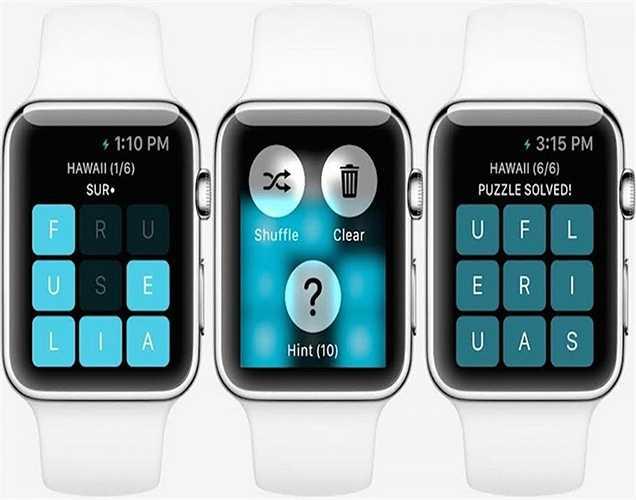 Đây là hình ảnh hiển thị khi bạn chơi một trò chơi trên iWatch. Pin của chiếc đồng hồ thông minh này dự kiến duy trì được khoảng 2,5 - 4 giờ sau khi sạc đầy.