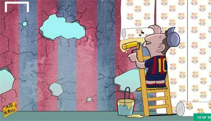 Messi hàn gắn những vết nứt trong nội bộ Barca