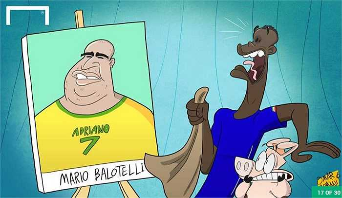Balotelli đang được cảnh báo sẽ sớm đi vào vết xe đổ của Adriano