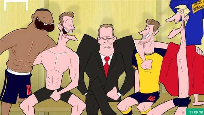 Jamie Carragher tức điên khi thấy các cầu thủ Arsenal chụp ảnh tự sướng trong phòng thay đồ sau chiến thắng