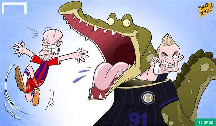 Robben bị cá sấu cắn?