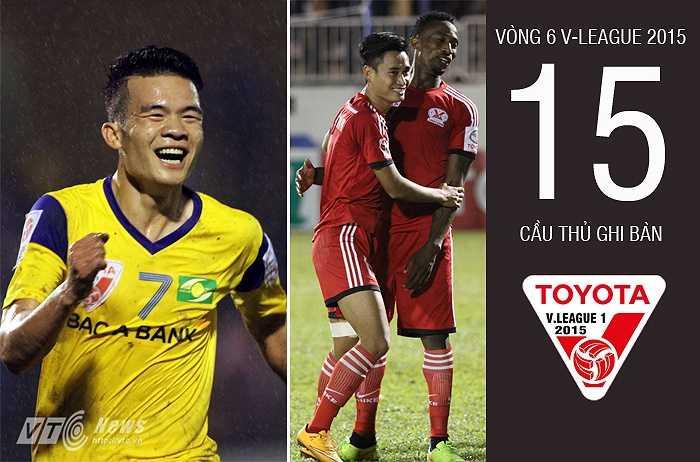 Có 15 cầu thủ ghi bàn ở vòng 6 V-League. (Ảnh: VSI - Minh Trần)