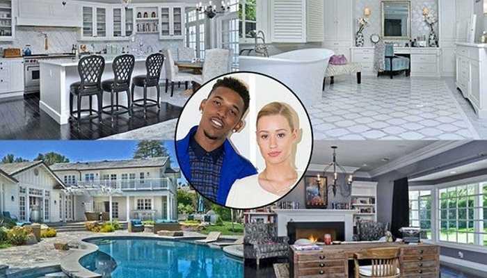 Iggy AzaLea and Nick Young - Cặp đôi mua lại căn biệt thự này với giá 3,45 triệu USD. căn hộ rộng lớn gồm 6 phòng ngủ, 7 phòng tắm cùng phòng thu riêng, 2 gara cùng các tiện nghi khác