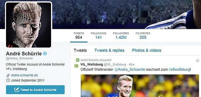 Twitter của nhà vô địch thế giới thay đổi ngay trong đêm qua