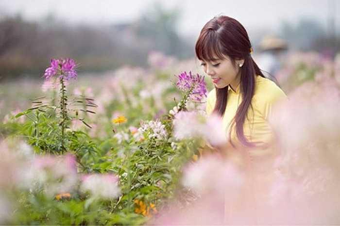 Vẻ đẹp dịu dàng hay tươi tắn của thiếu nữ Hà Thành trong vườn xuân khiến bao người ngẩn ngơ.