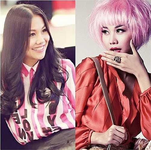 Ở phong cách thời trang nào Thanh Hằng cũng gây được ấn tượng nhờ sự kết hợp hoàn hảo.