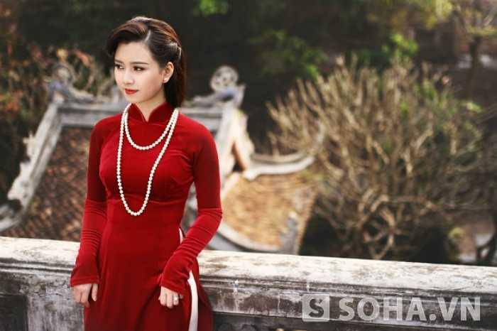 Người ta nhớ đến cô nhờ vẻ đẹp tự nhiên, mang vẻ đẹp của người con gái Việt.