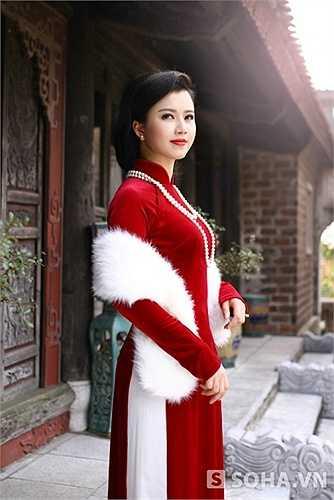 Cô gái từng tốt nghiệp ĐH Văn hóa nghệ thuật Quân đội hiện đang công tác tại Truyền hình Công an nhân dân - ANTV.