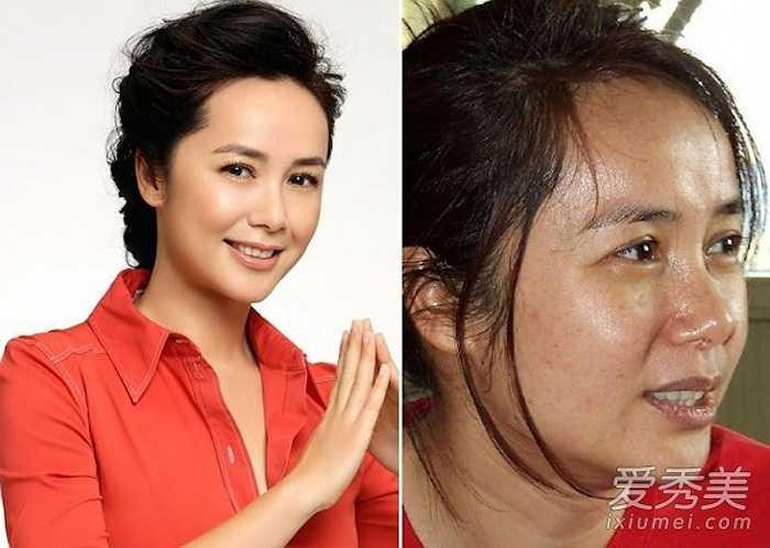 Người đẹp Tưởng Văn Lệ thực chất sở hữu làn da rất xấu, bóng dầu và nhiều khuyết điểm