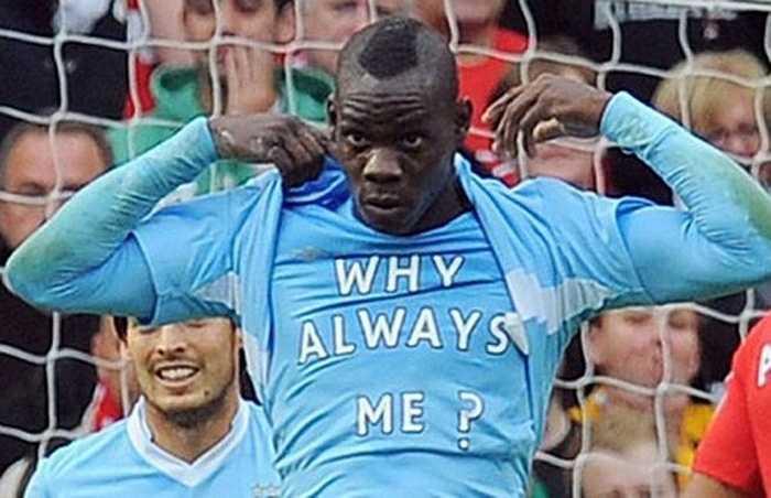 Dòng chữ 'Why always me' nổi tiếng của Balotelli