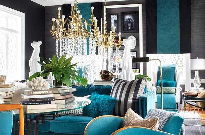 Màu xanh là một trong những màu sắc năng lượng cao tạo không gian căn phòng ấn tượng