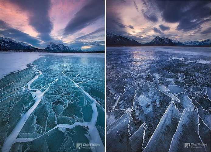 Hồ Abraham ở Alberta, Canada
