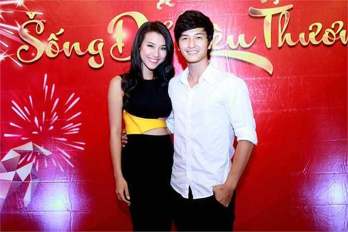 Á hậu Hoàng Oanh và bạn trai Huỳnh Anh.