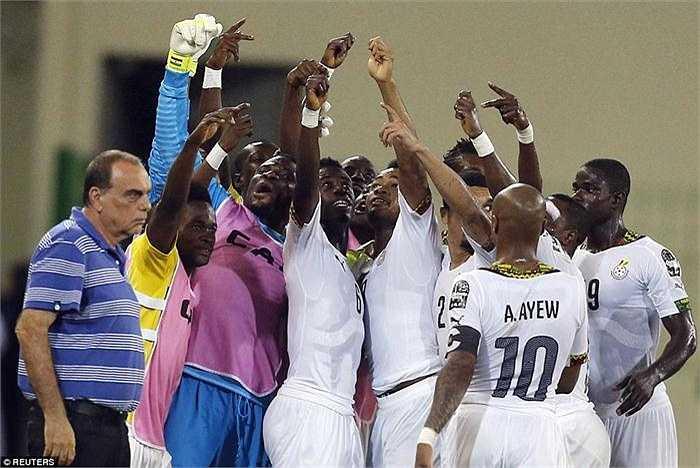 Các cầu thủ ghi bàn cho Ghana gồm: Jordan Ayew (penalty, 42' và 75'), Mubarak Wakaso (45+1').