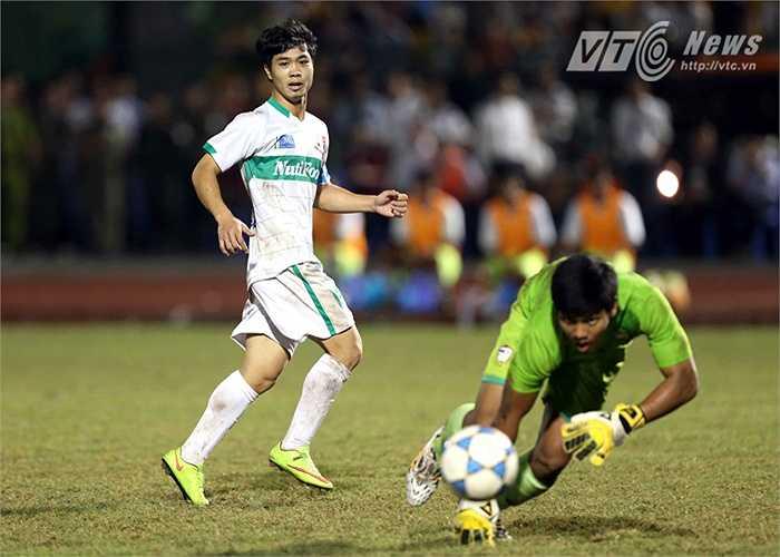 Và cũng là người ấn định chiến thắng 3-0 cho U19 HAGL. (Ảnh: Quang Minh)