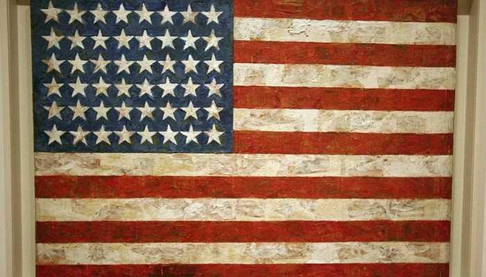 Bức họa cờ Mỹ có 48 ngôi sao của họa sĩ nổi tiếng Jasper John với giá trị 110 triệu USD