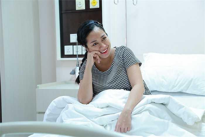 Cô giữ được tinh thần tốt trước khi sinh, luôn cười nói vui vẻ.