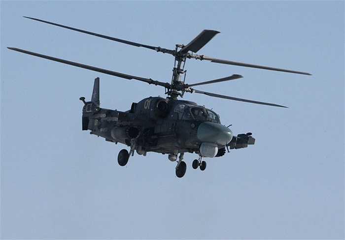 Trực thăng cá sấu Ka-52 Alligator trong cuộc tập trận