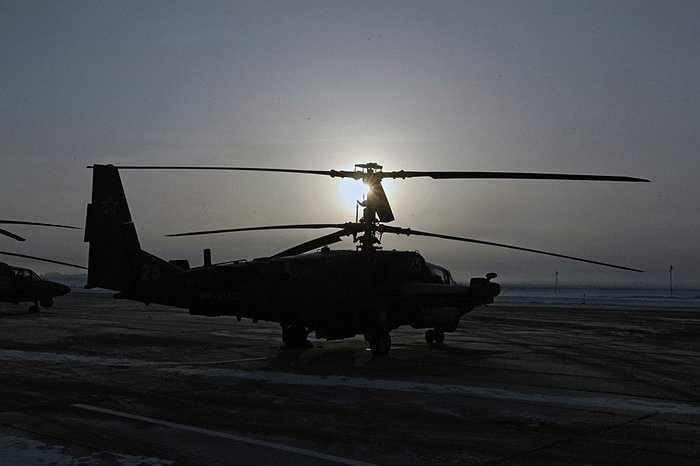 Trực thăng Ka-52 làm nhiệm vụ