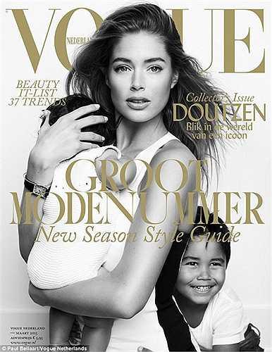 Tạp chí Vogue đã rất ưu ái với siêu mẫu Hà Lan Doutzen Kroes khi vừa đăng tải bộ ảnh cả gia đình cô trên số mới nhất.