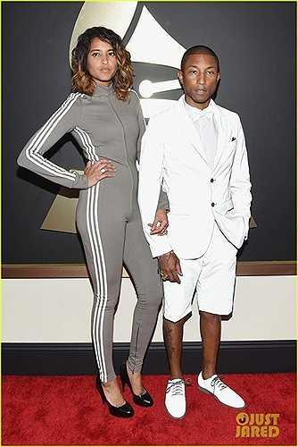 Pharell William và vợ mặc hai bộ đồ quá bình dân, không phù hợp với sự kiện như Grammy
