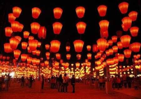 Hình ảnh đèn lồng trong Tết Nguyên Đán ở Singapore