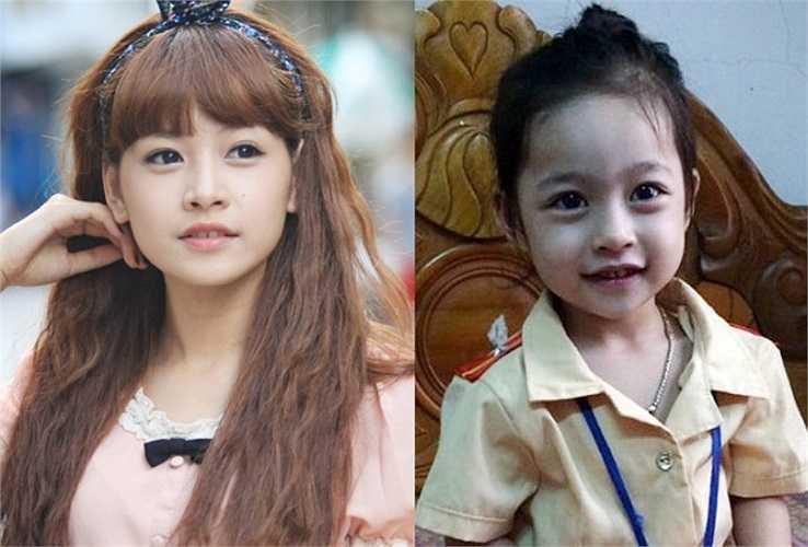 """Gần đây, một bé gái cũng gây sốt vì không khác gì phiên bản thu nhỏ của Chi Pu. Cô bé không chỉ giống Chi Pu ở chiếc mũi cao, đôi mắt bọng dưới đặc trưng mà còn giống hệt ở nụ cười vểnh lên tươi tắn. Được biết bé gái này có biệt danh là Nana - trùng với tên nhân vật Chi Pu thủ vai trong bộ phim """"5S Online""""."""