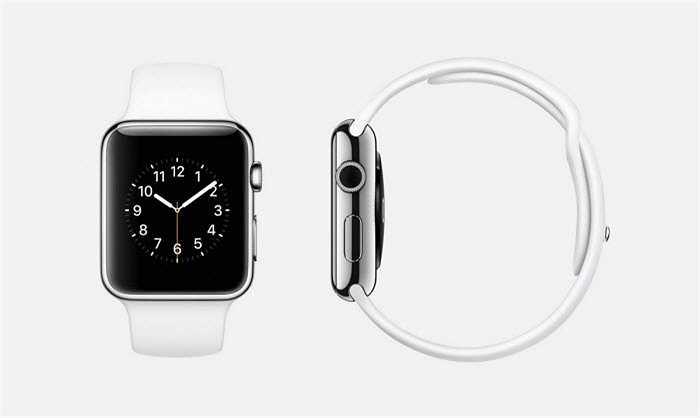 Phiên bản trắng của Apple Watch được làm bằng thép không gỉ, kích thước 38 mm hoặc 42 mm, pin cũng làm bằng thép không gỉ, dây đeo màu trắng, màn hình Retina tinh thể sapphire và mặt gốm phía sau.