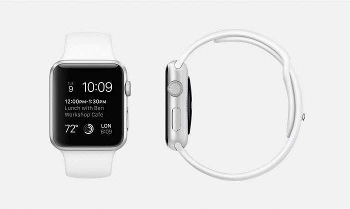 Phiên bản Apple Watch Sport này được thiết kế với khung nhôm bạc, thuộc dòng 7000 series (kích thước 38 mm hoặc 42 mm), có màu trắng, pin bằng thép không gỉ, màn hình Retina kính Ion-X và mặt sau bằng chất liệu composite.