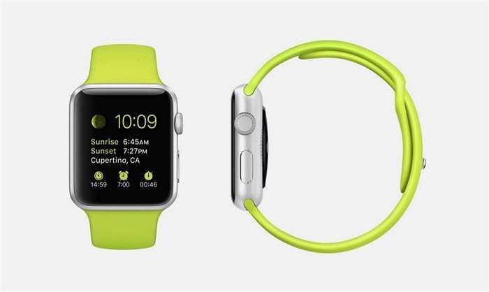 Cũng là một phiên bản khác của Apple Watch Sport, nhưng nó có dây đeo màu xanh lá cây.