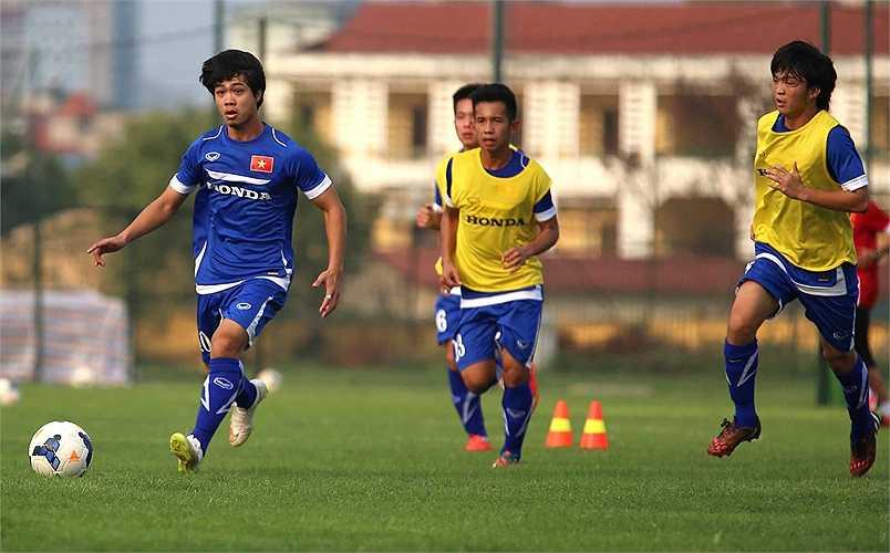 Anh nỗ lực tập luyện vì hiểu rằng ở U23 Việt Nam, không có chỗ cho những người lười (Ảnh: Quang Minh)