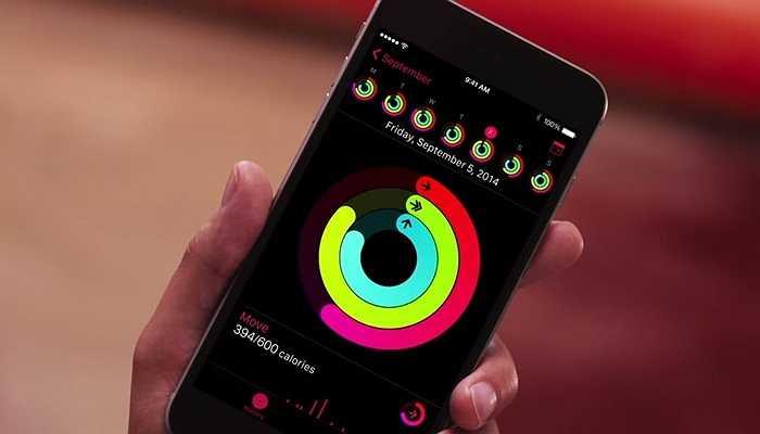 'Fitness' cũng có thể sync với iPhone để cho bạn biết kỹ càng hơn về tình hình sức khỏe của bản thân