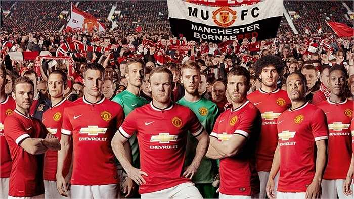 Dẫn đầu về tài trợ áo đấu, đương nhiên là Man Utd. Quỷ đỏ ký hợp đồng trị giá 53 triệu bảng /năm với hãng xe Chevrolet