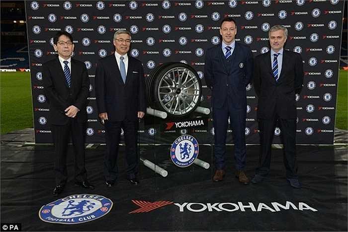 Chelsea vươn lên đứng thứ nhì với số tiền 40 triệu bảng/năm với hãng Yokohama Rubber