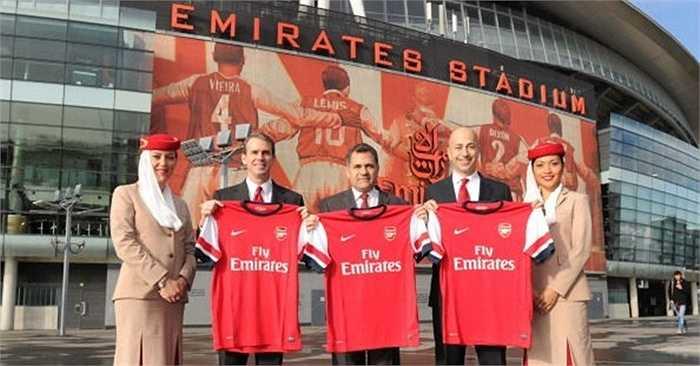 Arsenal vẫn trung thành với hãng hàng không Ả Rập Emirates khi kiếm 30 triệu bảng/năm