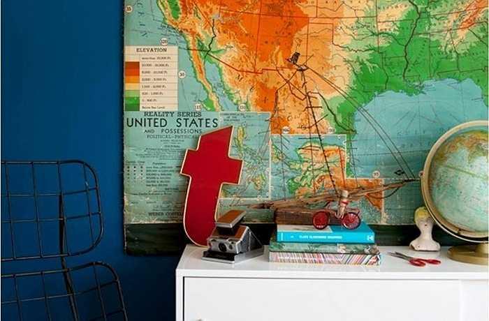 Chúng được dán trên tường và hiện nay được đính thêm rất nhiều phụ kiện. Vậy thì, những bản đồ này tinh tế hay là ngột ngạt?