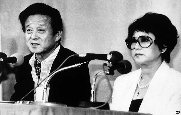 Cặp đôi Shin Sang-ok và Choi Eun-hee vào năm 1983 sáu khi trốn thoát khỏi Triều Tiên