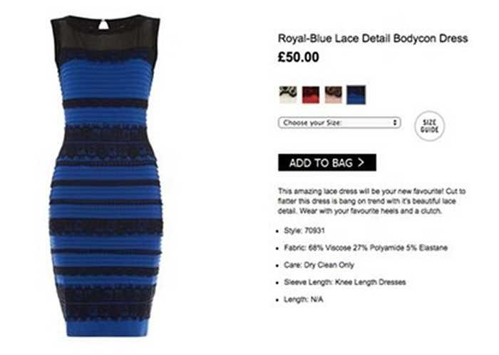Mới đây, Laura Coleman, người mẫu chụp ảnh quảng cáo chiếc váy đã lên tiếng khẳng định trang phục gây tranh cãi đó mang 2 màu xanh - đen.